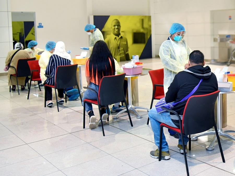 Emirates realiza test PCR