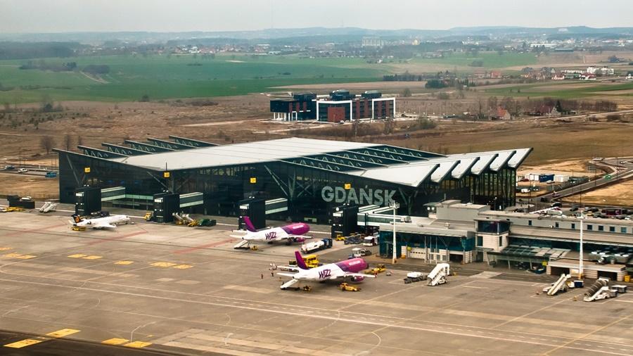 Wizz Air aviones en aeropuerto Gdansk