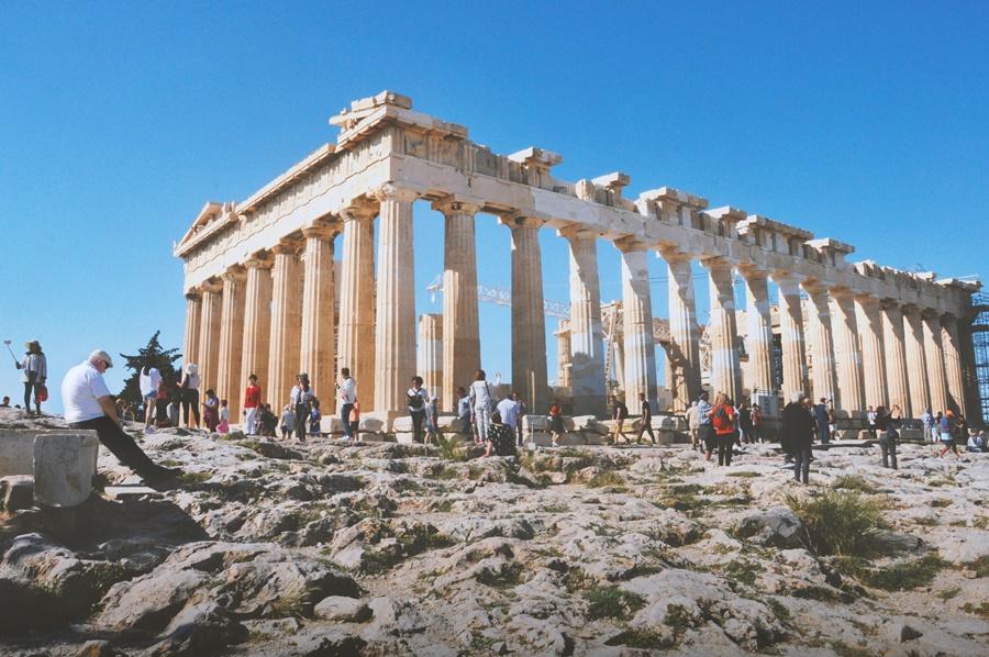 Turistas británicos en Grecia