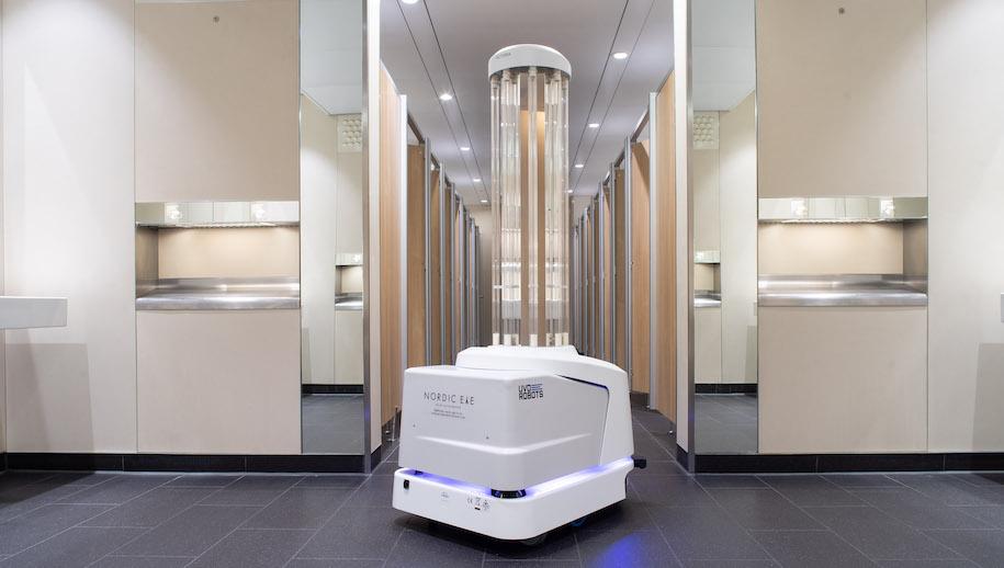 Robot autónomo de limpieza en Heathrow