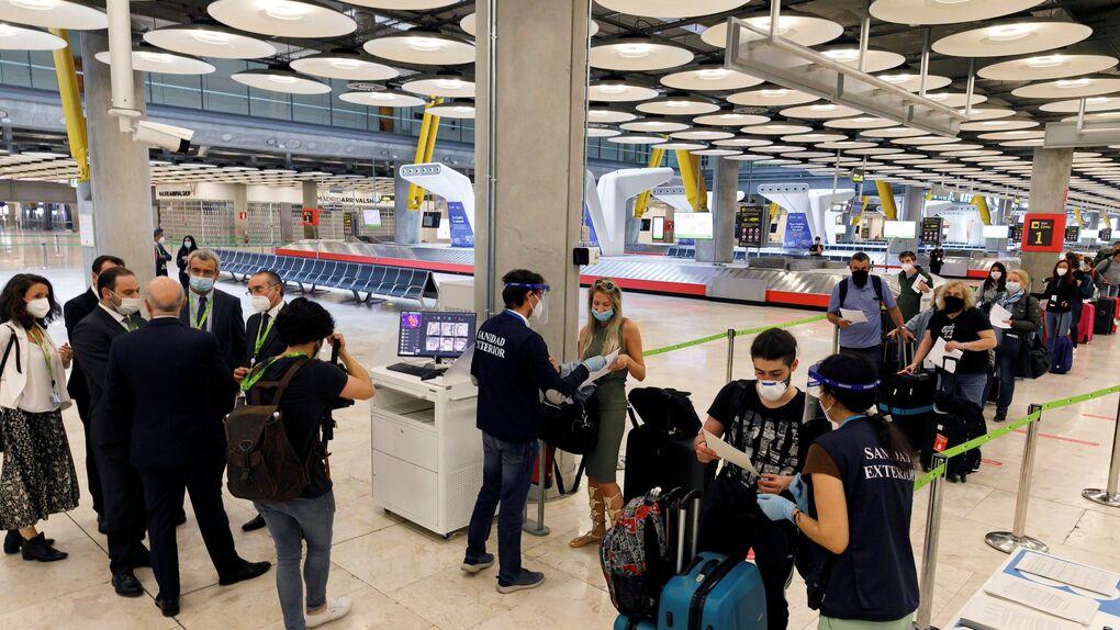 Controles en el aeropuerto de Barajas