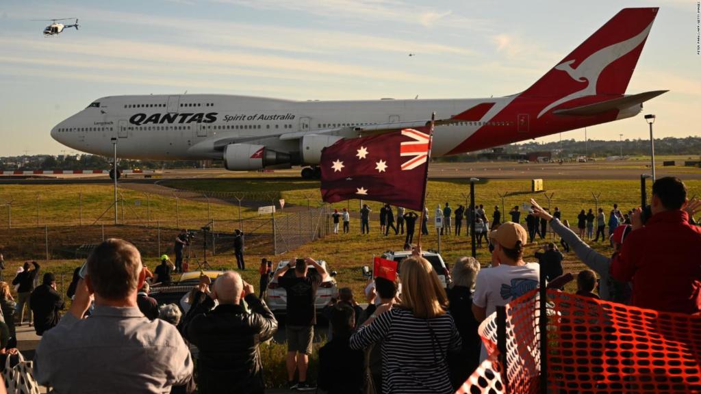 Despedida de los Boeing 747 de Qantas