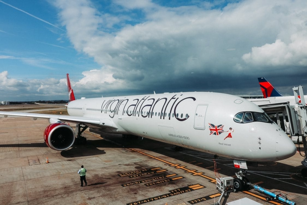 Airbus A350 perteneciente a la flota de Virgin Atlantic