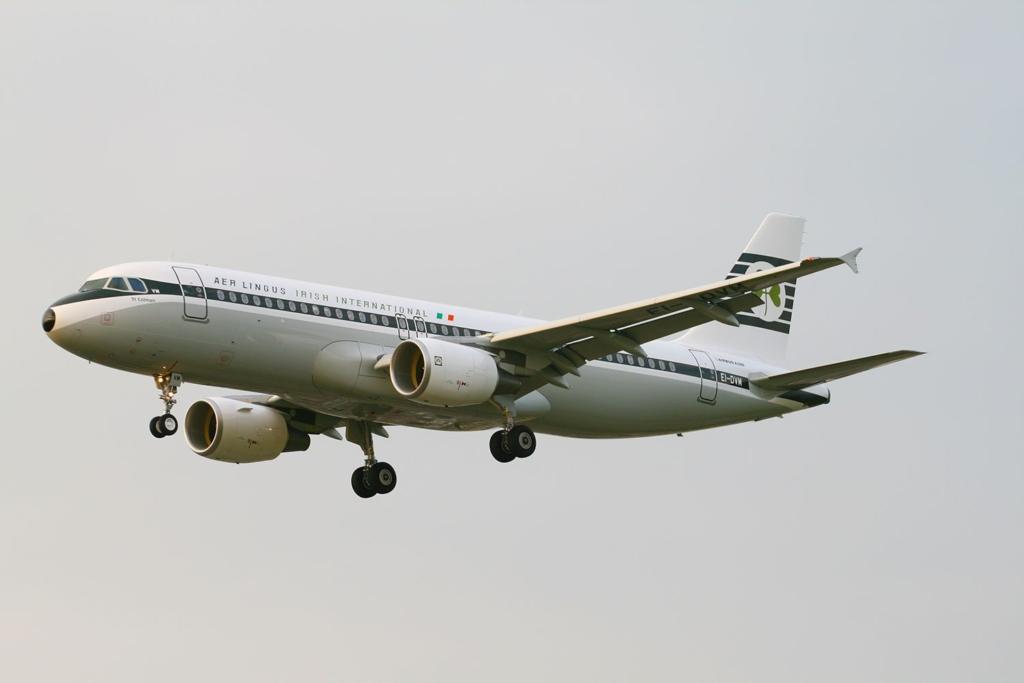 Airbus A320 de Aer Lingus decorado al estilo retro