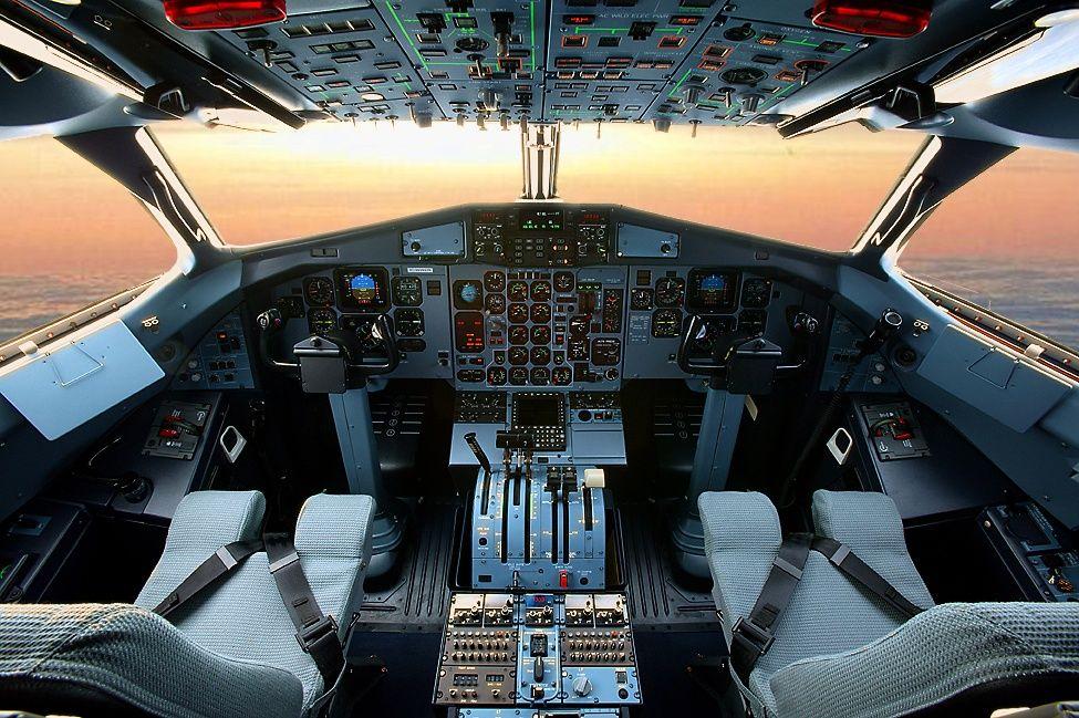 Cabina de un avión ATR