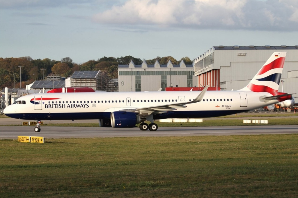 Airbus A321neo de la flota de British Airways