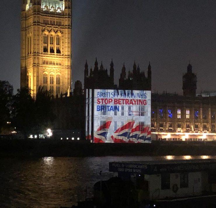 Campaña BA Betrayal en Londres