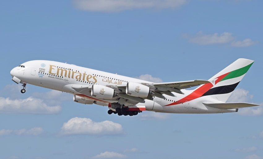 Airbus A380 perteneciente a la flota de Emirates