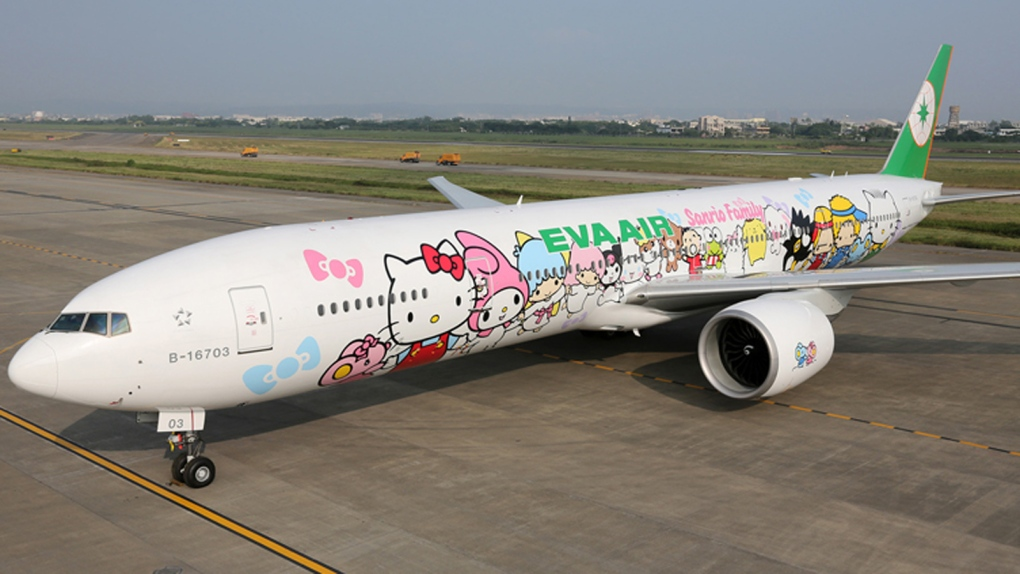 Airbus A330 de Eva Air con decoración original