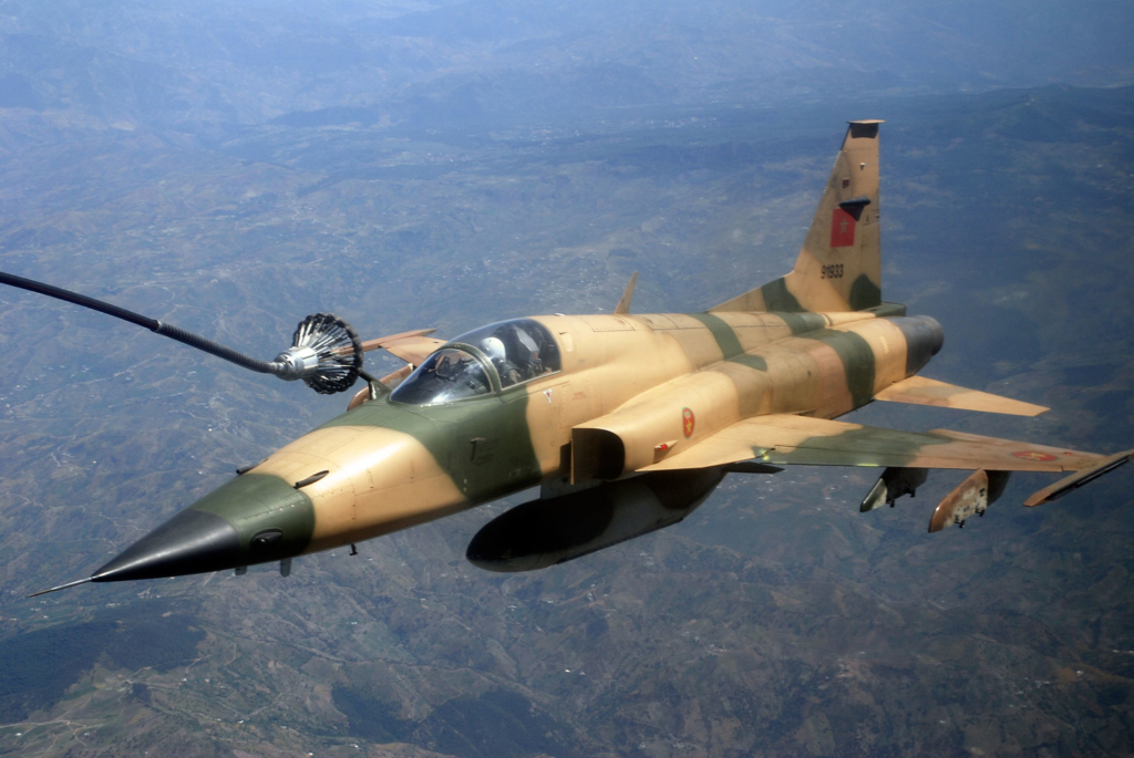 Avión F-5 de la Fuerza Aérea Real de Marruecos