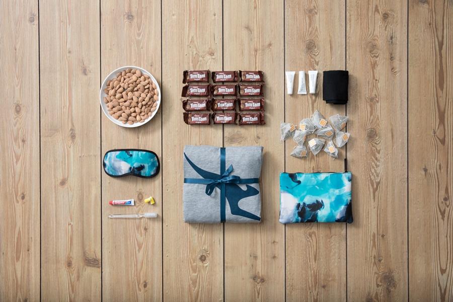 Kit de productos regalo de Qantas