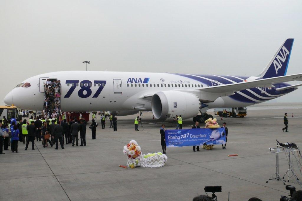 Primer Boeing 787 de la compañía japonesa ANA