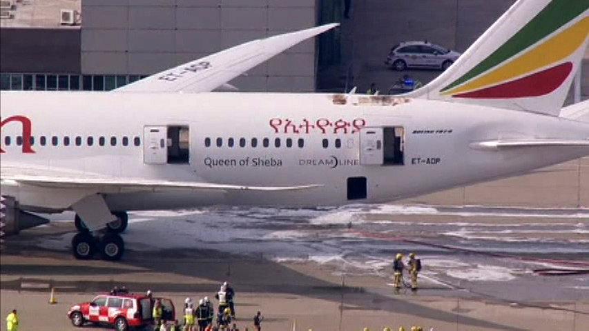 """Incendio en un 787 """"Dreamliner"""" de la aerolínea Ethiopian"""