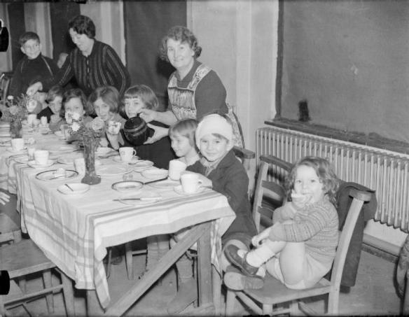 Horfanato inglés en el año 1940