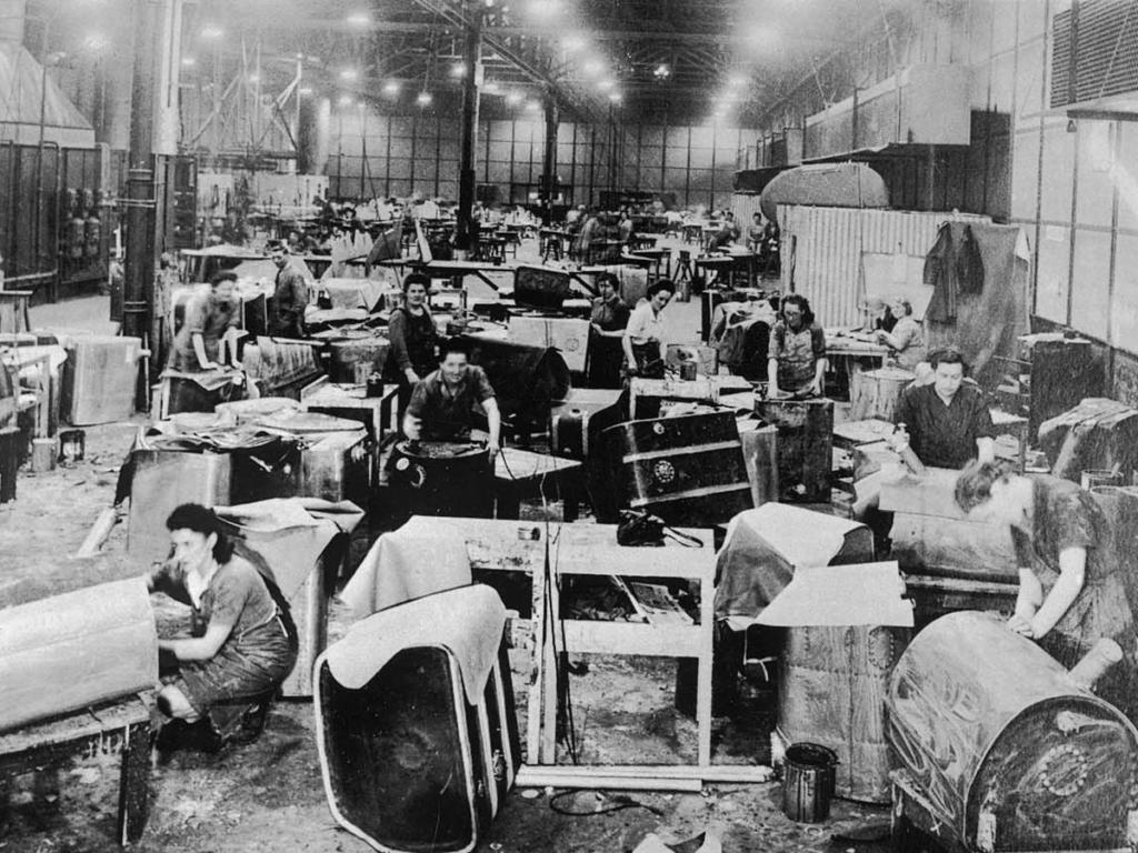 Fábrica de Spitfires en Inglaterra durante la II Guerra Mundial