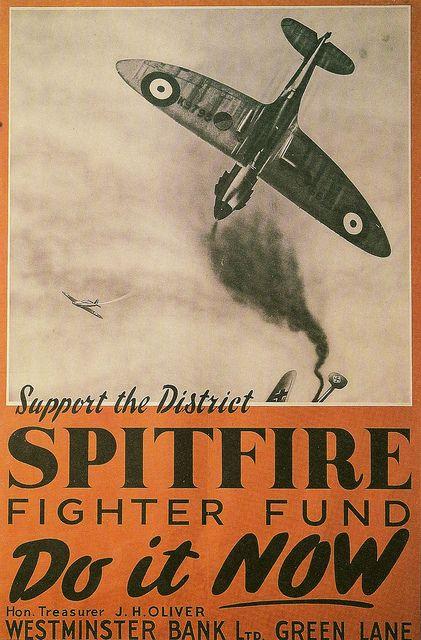 Poster apoyando a la RAF duante la II Guerra Mundial