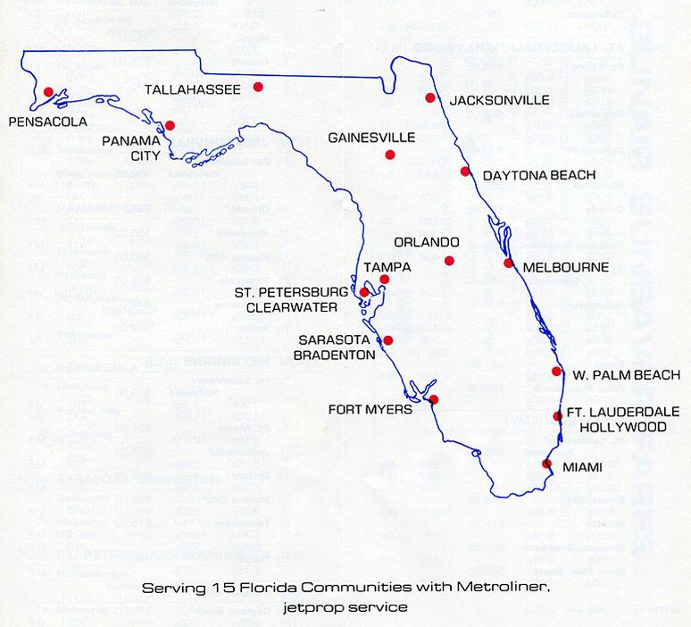 Destinos de Sunair en el estado de Florida