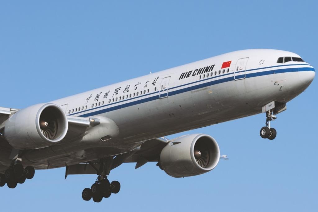 Noticias de aerolíneas. Avión de Air China