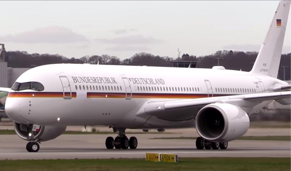 Avión A350 de la canciller Angela Merkel