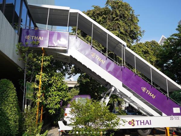 Acceso al nuevo restaurante de Thai Airways en Bangkok