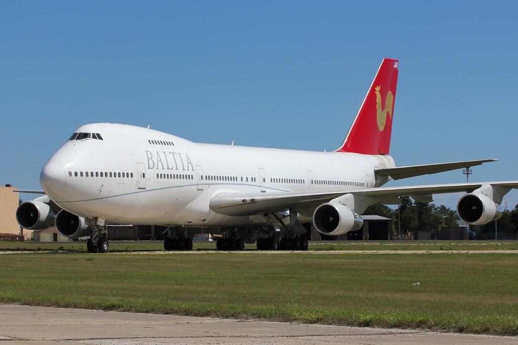 Boeing 747 de la aerolínea Baltia