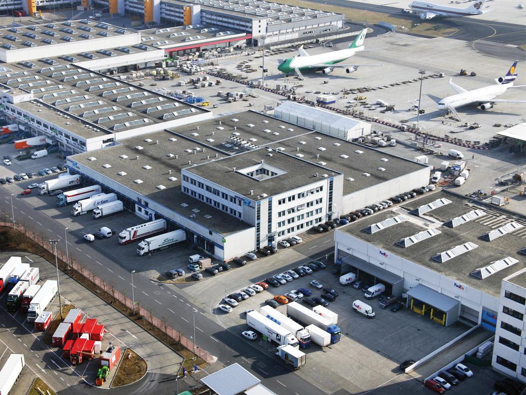 Zona de carga en el aeropuerto de Frankfurt