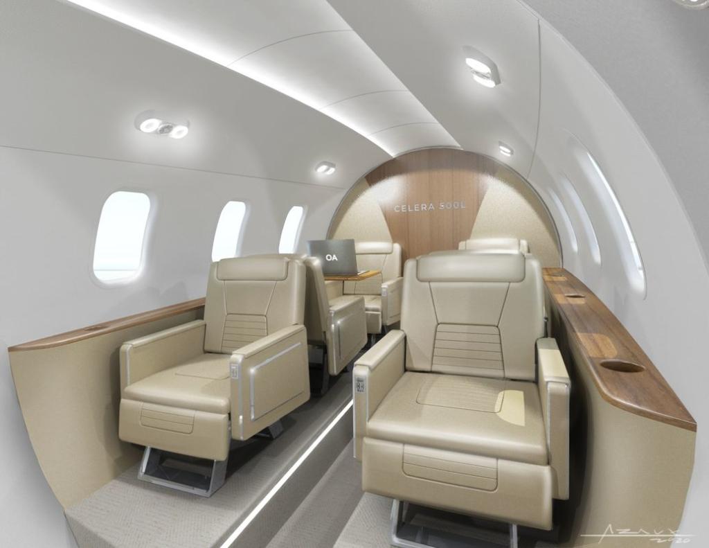 Noticias de aviones. Interior de la cabina del Celera 500L