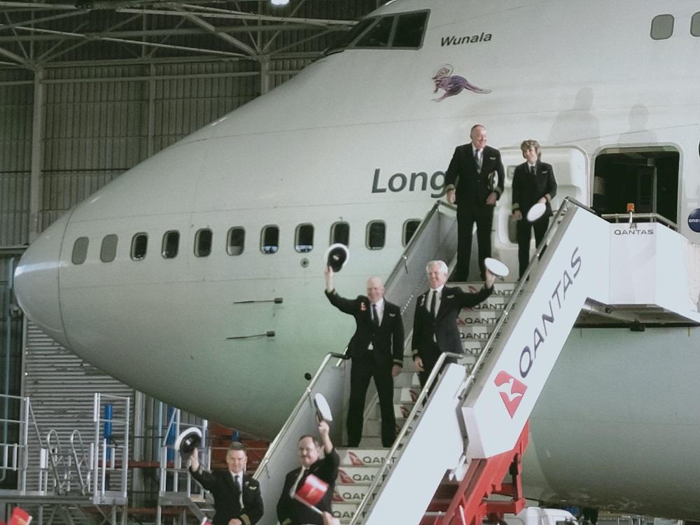 Despedida del último Boeing 747 de Qantas