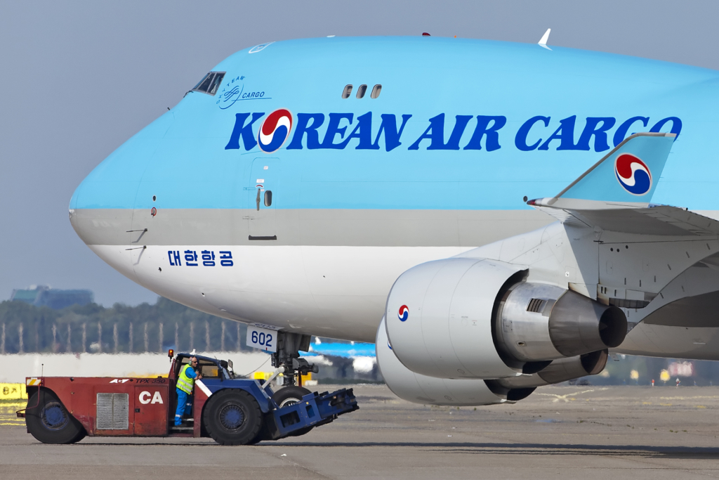 Boeing 747 de Korean Air destinado al transporte de carga