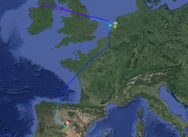 Ruta seguida por el avión de Avianca Cargo