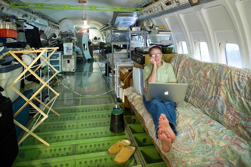 Boeing 727 reconvertido en vivienda