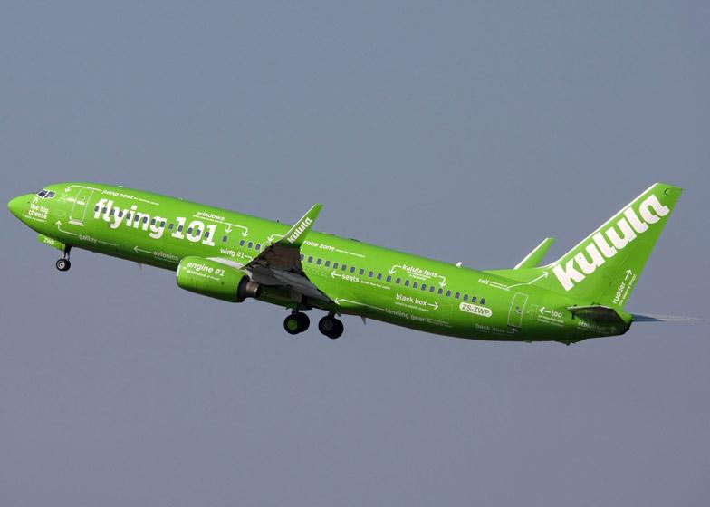 Boeing 737 de la aerolínea africana Kulula