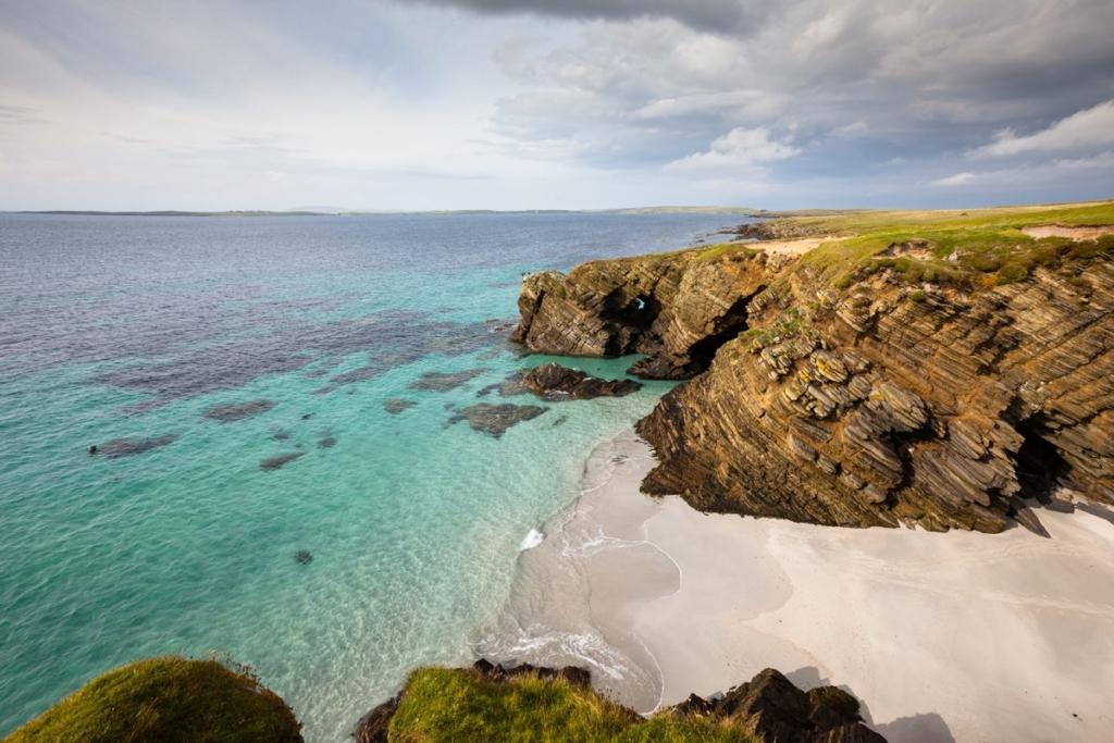 Playa en las Islas Orcadas