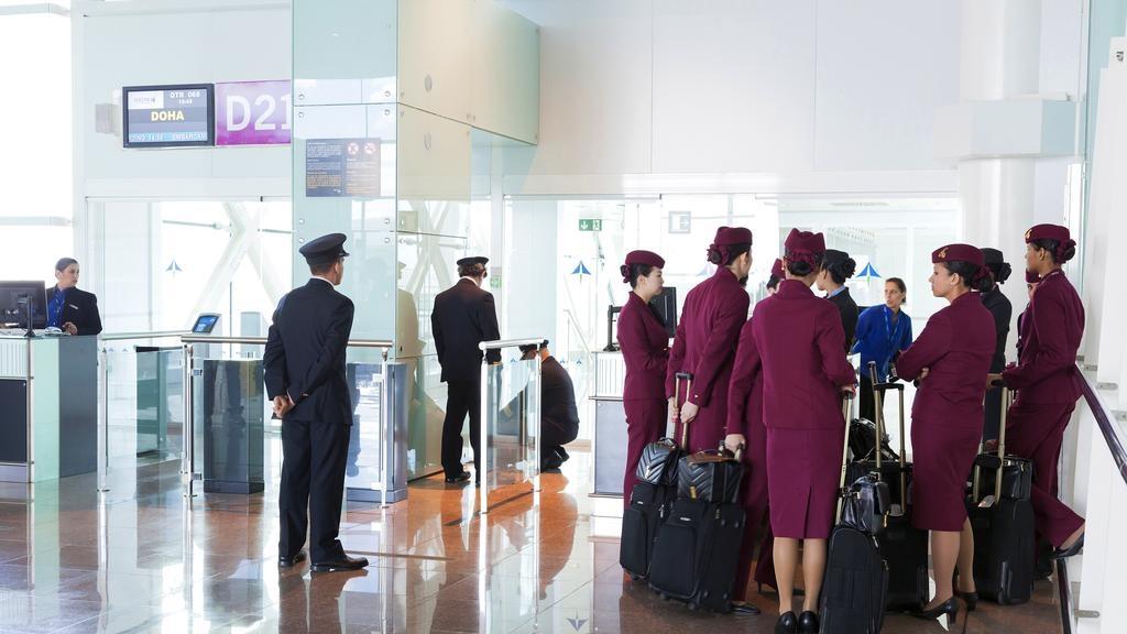Tripulación de Qatar Airways