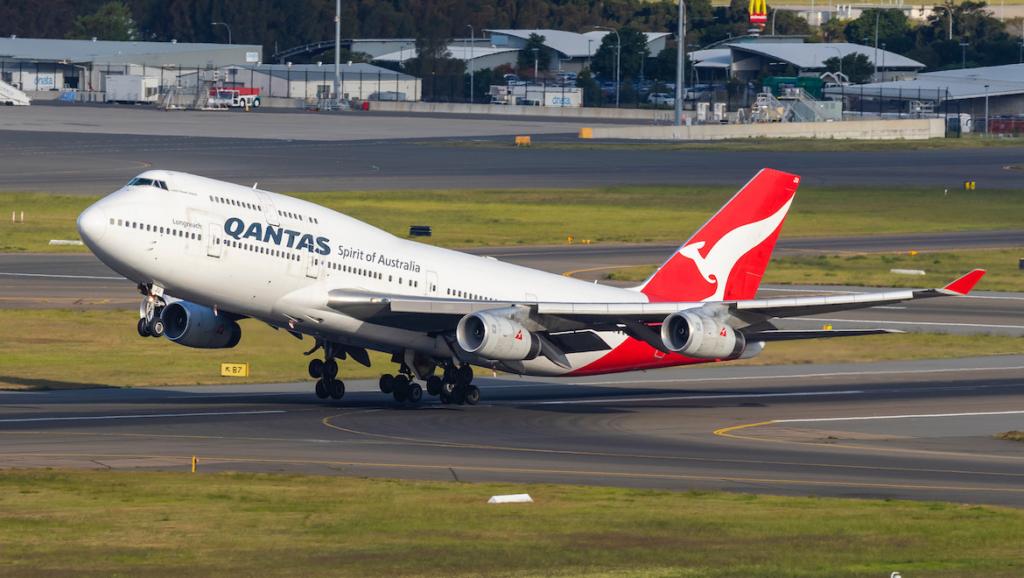 Boeing 747 de la aerolínea Qantas