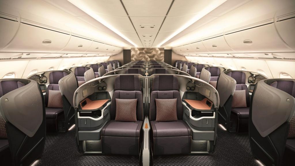 Noticias de aerolíneas. Interior del Airbus A380 de Singapore Airlines