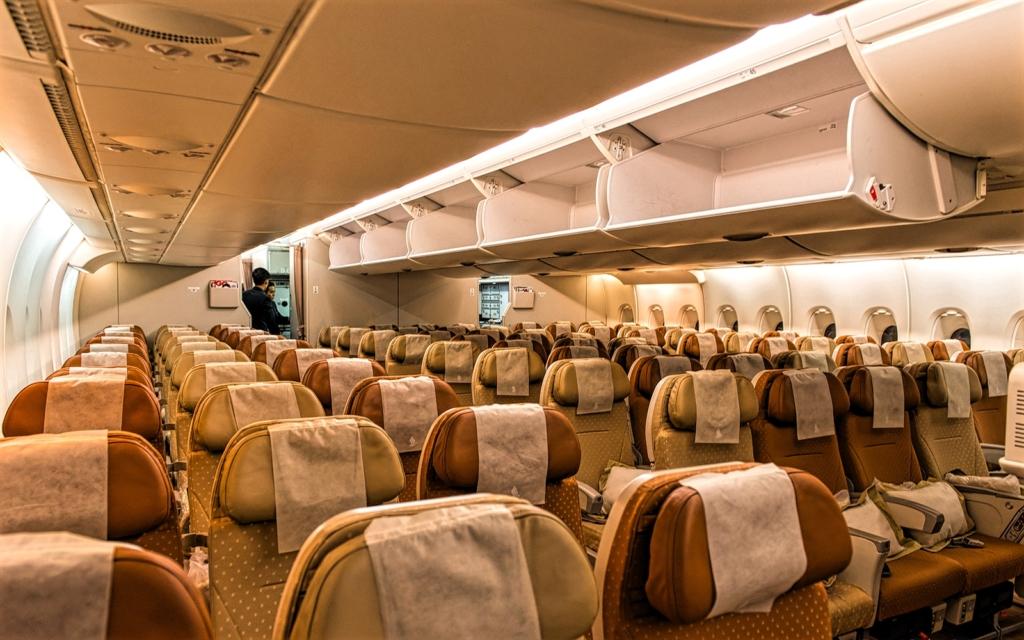 Singapore Airlines. Economy dentro del Airbus A380