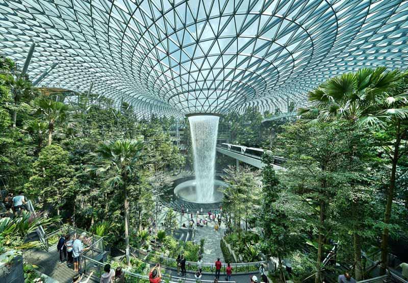Aeropuerto Internacional de Changi, en Singapur