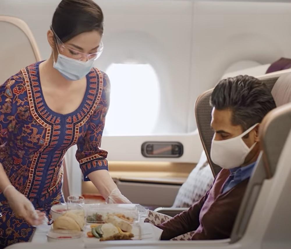 Noticias de aerolíneas. Cenando dentro del Airbus A380 de Singapore Airlines