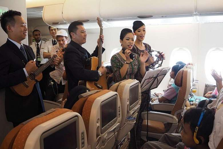 Vuelo especial para niños de Singapore Airlines