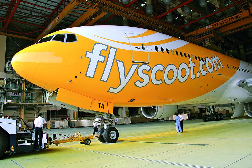 Avión de la flota de Scoot