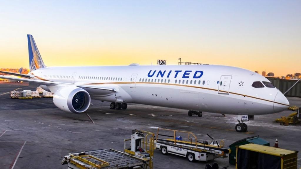 Boeing 787 de la aerolínea United