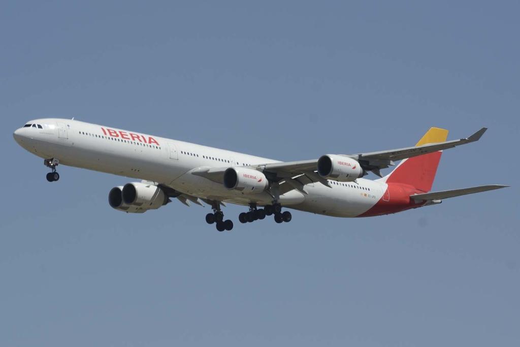 Noticias de aerolíneas. Airbus A340 recientemente retirado de la flota de Iberia