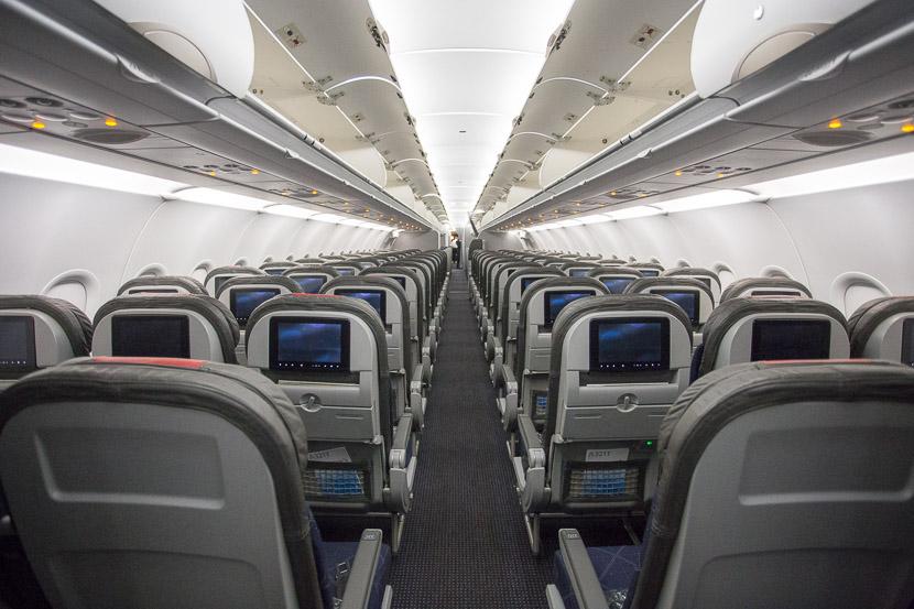 Noticias de aerolíneas. Noticias de aviones. Interior cabina Airbus A321 de American Airlines