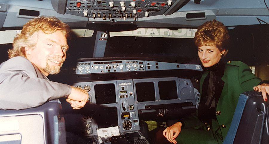 Noticias de aviones. Noticias de aerolíneas. La Princesa de Gales en el nuevo A340 de Virgin Atlantic.