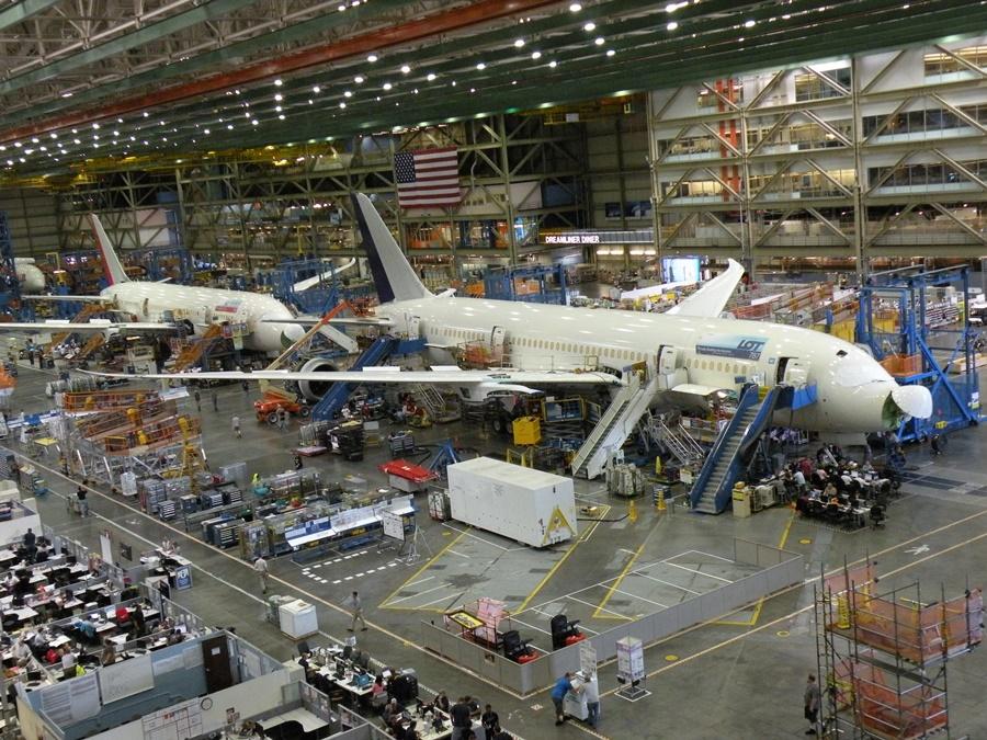 Noticias de aviones. Noticias de aerolíneas. Línea de ensamblaje del Boeing 787 Dreamliner