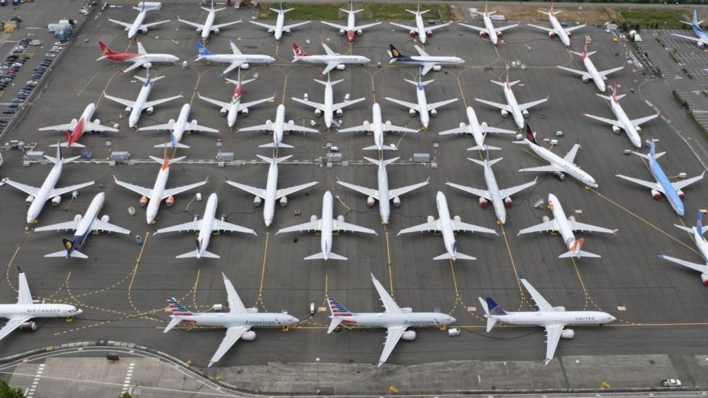 Noticias de aviones. Noticias de aerolíneas. Boeing 737MAX a la espera de ser entregados a sus compañías.