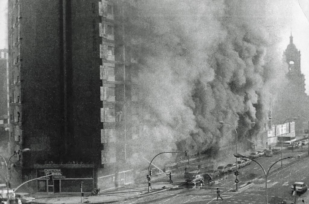 Noticias de hoteles. Noticias de turismo. Incendio del antiguo Hotel Corona de Aragón en Zaragoza