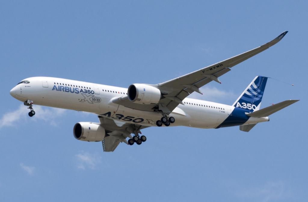 Noticias de aviones. Noticias de aerolíneas. Primer Airbus A350