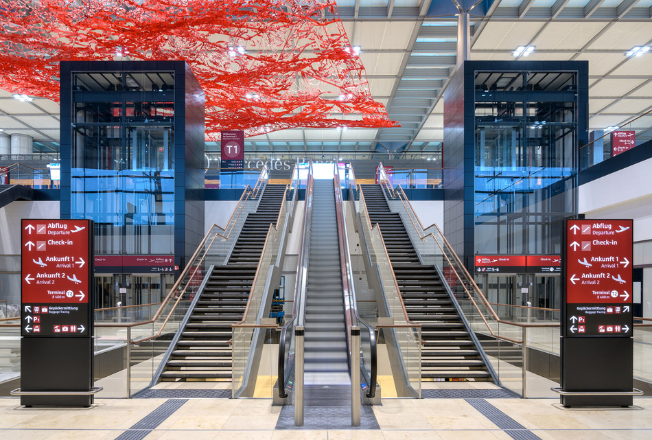 Noticias de aeropuertos. Noticias de aviones. Terminal del nuevo aeropuerto Willy Brandt en Berlín
